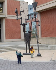 Sculpture in Front of Museum