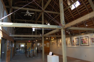 Second floor, Dahmen Barn
