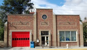 Uniontown's combination Fire Station, Town Hall and Library